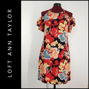 Ann Taylor Loft Women Floral Cold Shoulder Dress